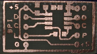 PCB for 12F629 RS232 Interface.  (PCB Size 26 x 14mm)